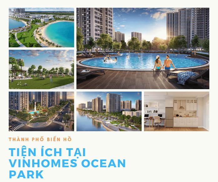 Các tiện ích phía trong Vinhomes Ocean Park đảm bảo đáp ứng nhu cầu của cư dân
