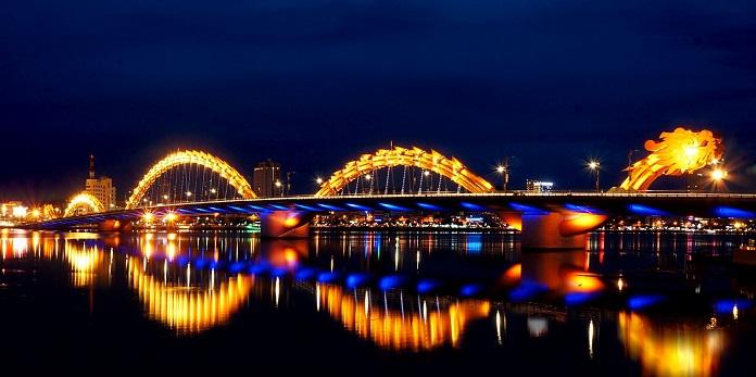 Cầu Rồng - Đà Nẵng đẹp rực rỡ trong đêm