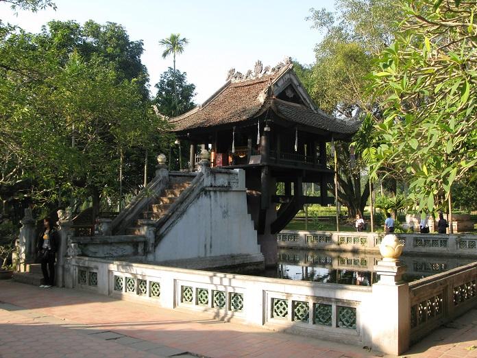 Chùa Một Cột - Công trình kiến trúc nổi tiếng của nước ta