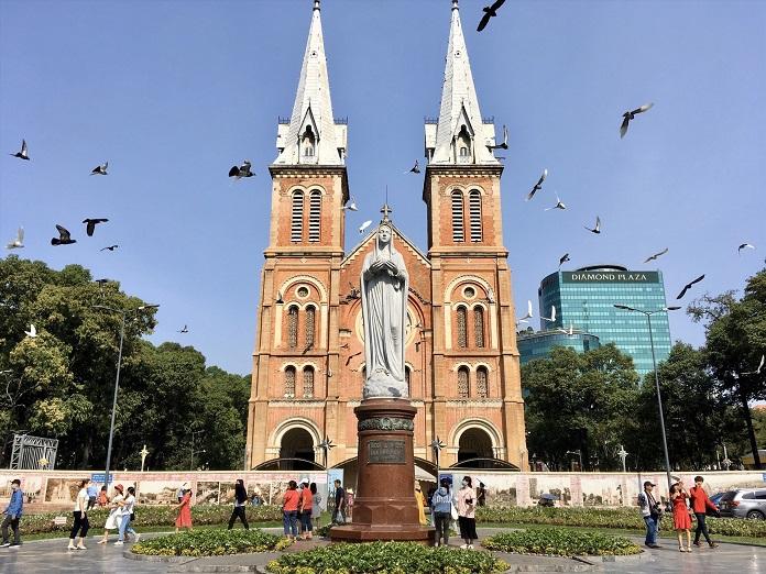 Công trình nhà thờ Đức Bà ở thành phố Hồ Chí Minh