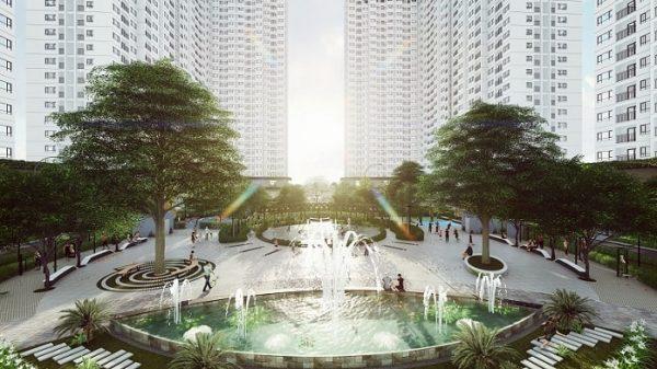 Dự án có khu vườn trên cao với khoảng 800 cây xanh