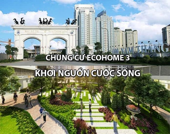 Ecohome 3 là dự án nhà ở xã hội được đánh giá rất cao