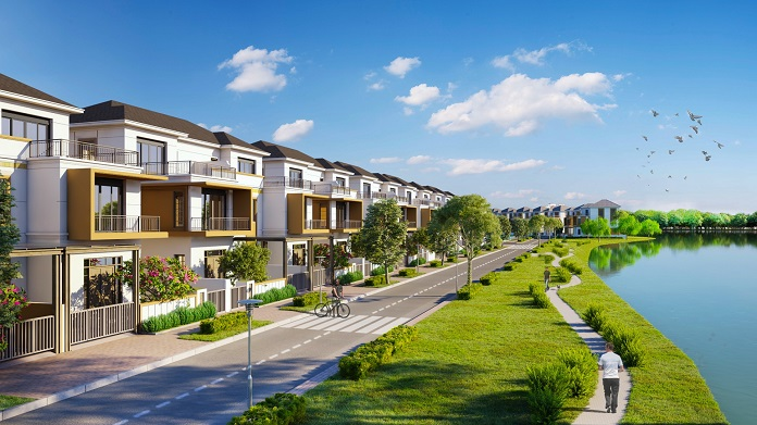 Khu đô thị Aqua City Novaland được bao bọc bởi dòng sông và hệ thống cây xanh