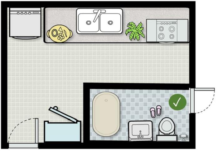 Xung khắc phong thủy nhà bếp và nhà vệ sinh - lưu ý